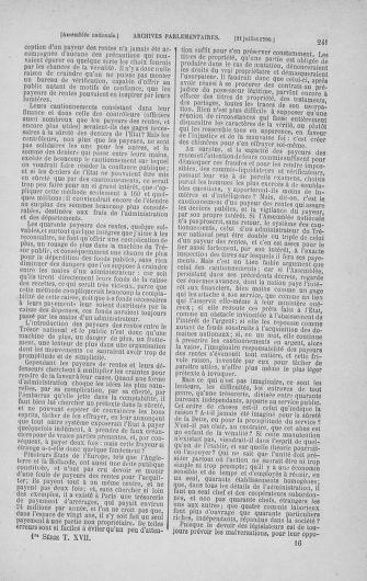 Tome 17 : Du 9 juillet au 12 août 1790 - page 241