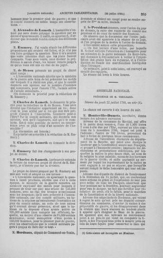 Tome 17 : Du 9 juillet au 12 août 1790 - page 269