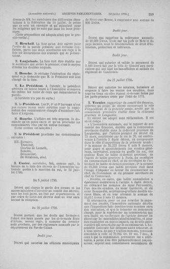Tome 17 : Du 9 juillet au 12 août 1790 - page 299