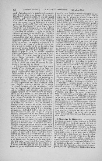 Tome 17 : Du 9 juillet au 12 août 1790 - page 308
