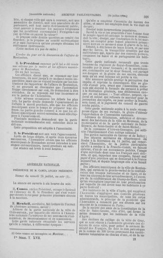 Tome 17 : Du 9 juillet au 12 août 1790 - page 321