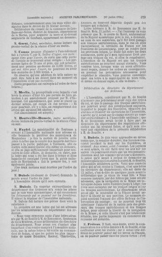 Tome 17 : Du 9 juillet au 12 août 1790 - page 379