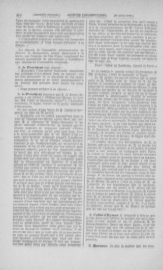 Tome 17 : Du 9 juillet au 12 août 1790 - page 414
