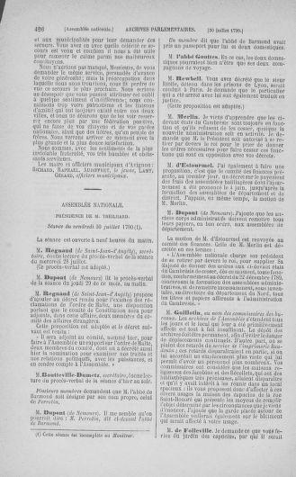 Tome 17 : Du 9 juillet au 12 août 1790 - page 426