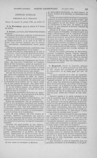 Tome 17 : Du 9 juillet au 12 août 1790 - page 439