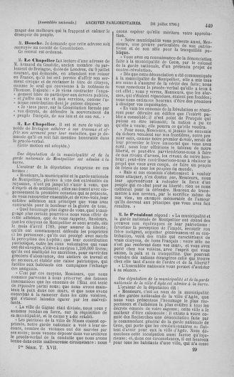 Tome 17 : Du 9 juillet au 12 août 1790 - page 449