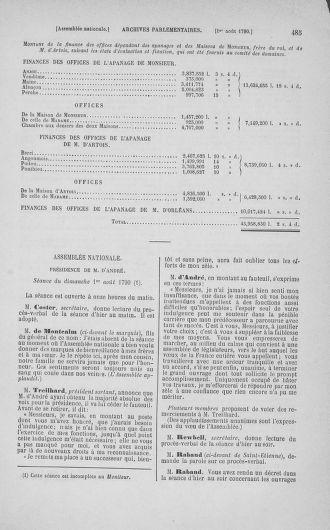 Tome 17 : Du 9 juillet au 12 août 1790 - page 485