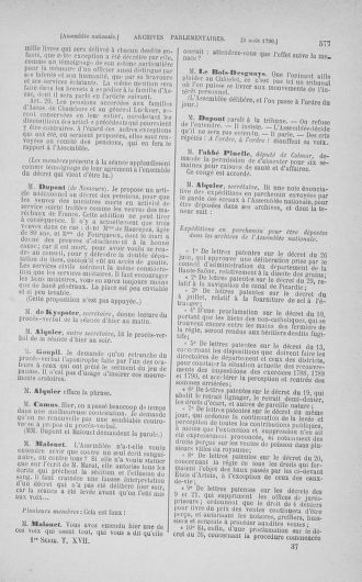 Tome 17 : Du 9 juillet au 12 août 1790 - page 577