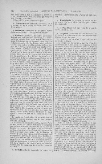 Tome 17 : Du 9 juillet au 12 août 1790 - page 614