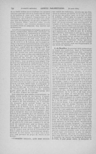 Tome 17 : Du 9 juillet au 12 août 1790 - page 718