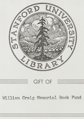 Gift of William Craig Memorial Book Fund