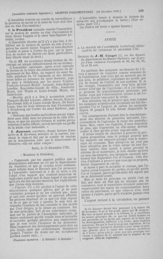 Tome 36 : Du 11 décembre 1791 au 1er janvier 1792 - page 169