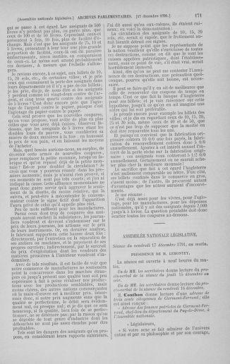 Tome 36 : Du 11 décembre 1791 au 1er janvier 1792 - page 171