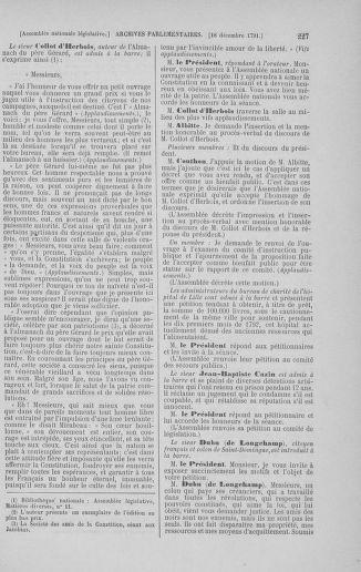 Tome 36 : Du 11 décembre 1791 au 1er janvier 1792 - page 227