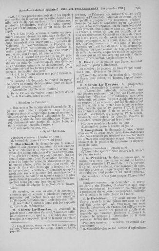 Tome 36 : Du 11 décembre 1791 au 1er janvier 1792 - page 249