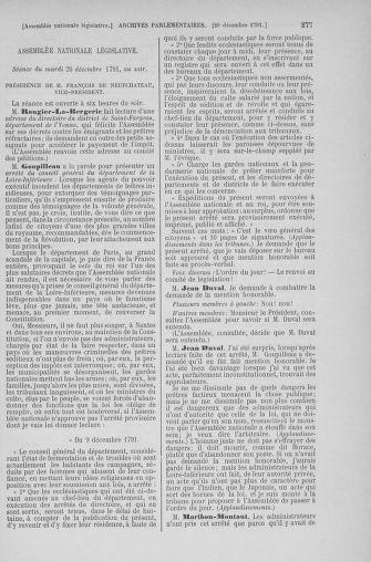 Tome 36 : Du 11 décembre 1791 au 1er janvier 1792 - page 277