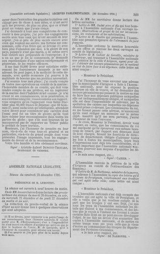 Tome 36 : Du 11 décembre 1791 au 1er janvier 1792 - page 323