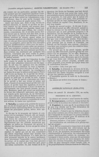 Tome 36 : Du 11 décembre 1791 au 1er janvier 1792 - page 333