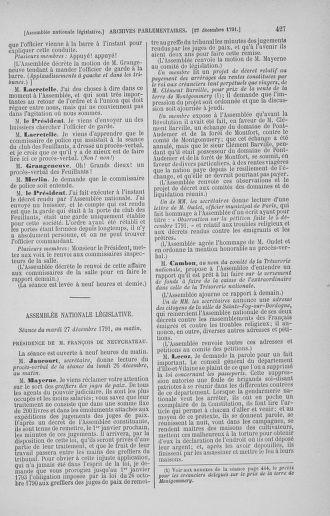 Tome 36 : Du 11 décembre 1791 au 1er janvier 1792 - page 427