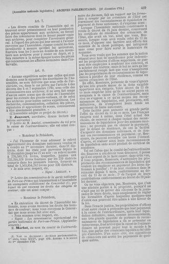 Tome 36 : Du 11 décembre 1791 au 1er janvier 1792 - page 429