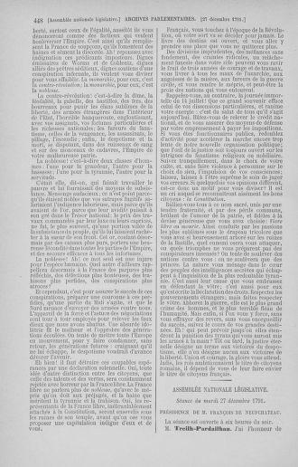 Tome 36 : Du 11 décembre 1791 au 1er janvier 1792 - page 448