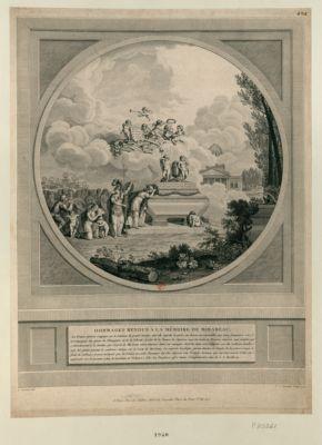 Hommages rendus à la mémoire de Mirabeau la France éplorée s'appuye sur le tombeau du grand homme dont elle regrette la perte... : [estampe]