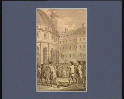 [Les  Têtes de Foulon et Berthier portées par le peuple à la Halle aux blés] [estampe]