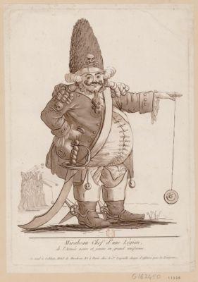 Mirabeau chef d'une légion de l'Armée noire et jaune en grand uniforme [estampe]