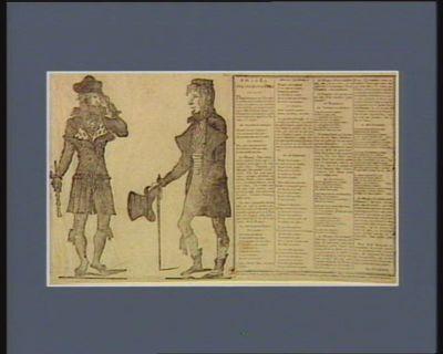 Arrivée à Paris de deux généraux de l'armée des incroyables, de 60 milles hommes, & leur plan d'attaque pour un second vendemiaire [estampe]