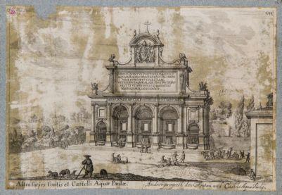 Fontana Paola vista di prospetto