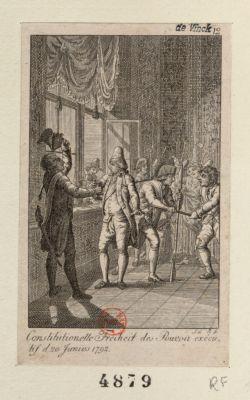 Constitutionelle Freiheit <em>des</em> Pouvoir executif d. <em>20</em> Junius <em>1792</em> [estampe]