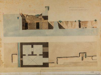 Portico delle terme di Caracalla scavato nel 1870-1871