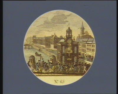 N.o 65 21 juin 1791. Fuite du Roi avec sa famille. Des 7 heures du matin le bruit de cet evenement de la nuit fut bientôt repandu dans tout <em>Paris</em>... : [estampe]