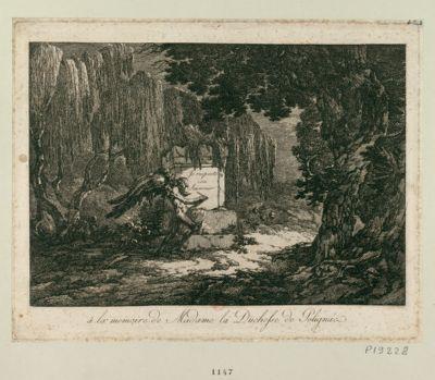 A la memoire de Madame la duchesse de Polignac [estampe]
