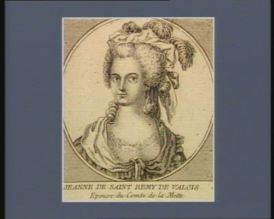 Jeanne de Saint Remy de Valois épouse du comte de La Motte [estampe]