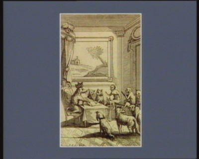 [Louis seize, représenté en cochon, entouré d'une cour d'animaux, signe un décret] [estampe]