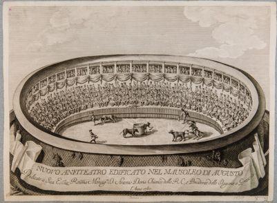 Nuovo anfiteatro edificato nel mausoleo di Augusto