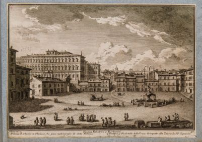 Piazza Barberini, veduta generale