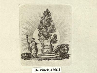 [La  République montrant les Droits de l'homme, appuyés contre un arbre] [estampe]