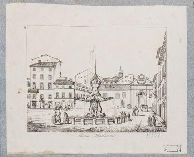 Piazza Barberini, fontana del Tritone