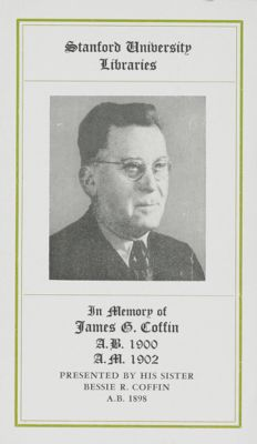James G. Coffin Memorial Book Fund