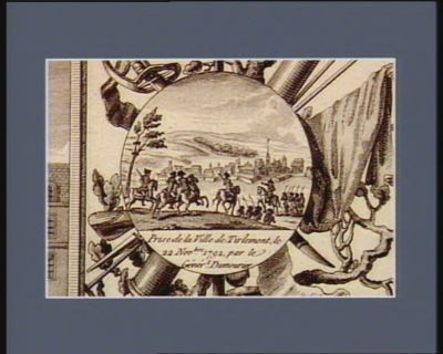 Prise de la ville de Tirlemont, le 22 novbre <em>1792</em> par le génér.l Dumourier [estampe]