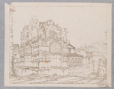 Velabro, veduta del Giano e della Chiesa di San Giorgio