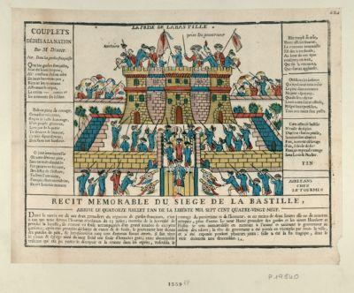 La  Prise de la Bastille couplets dédiés à la <em>nation</em> par M. Déduit : [estampe]