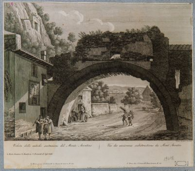 Veduta delle antiche sostruzioni del monte Aventino