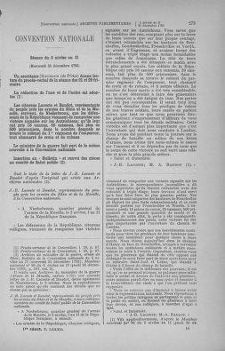 Tome 82 : Du 20 décembre 1793 au 4 janvier 1794 - page 273