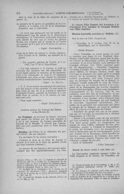 Tome 82 : Du 20 décembre 1793 au 4 janvier 1794 - page 274