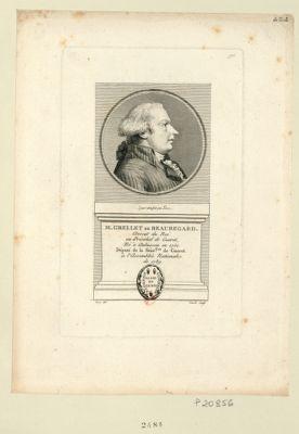 M. Grellet de Beauregard avocat du Roi au présidial de Gueret, né à Aubusson en 1750. Député de la séné.ssée de Gueret à l'Assemblée nationale de 1789 : [estampe]