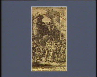 Prise de la Bastille le 14 juillet 1789 le gouverneur décapité à la place de Greve : [estampe]