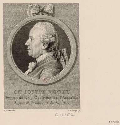 Cl.de Joseph Vernet peintre du roi, conseiller de l'Académie royale de peinture et de sculpture : [estampe]